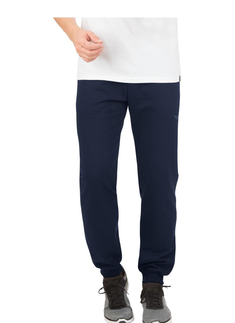 TRIGEMA Jogginghose aus Biobaumwolle | Sportbekleidung > Sporthosen > Jogginghosen | Blau | Baumwolle | Trigema