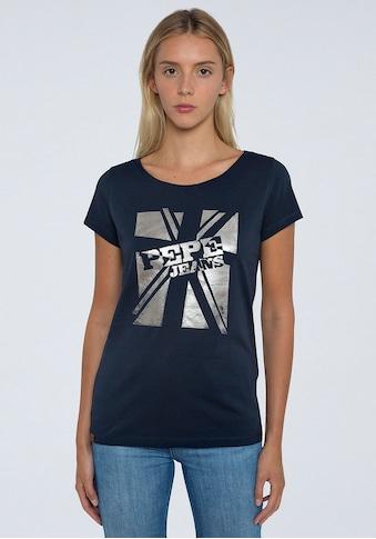 Pepe Jeans Kurzarmshirt »ALESSA«, mit großem Frontprint mit Marken-Logo kaufen