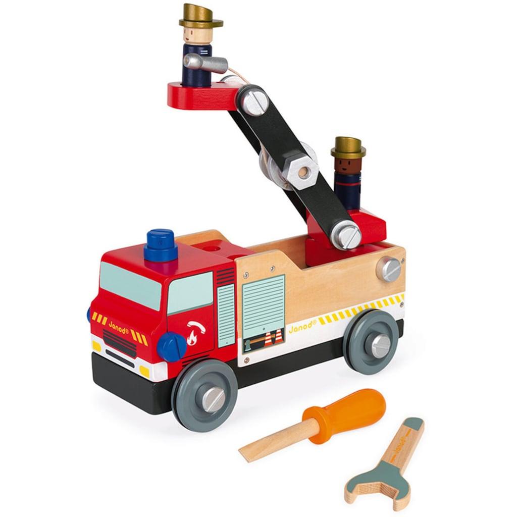 Janod Spielzeug-Feuerwehr »Brico Kids«, FSC®-Holz aus gewissenhaft bewirtschafteten Wäldern