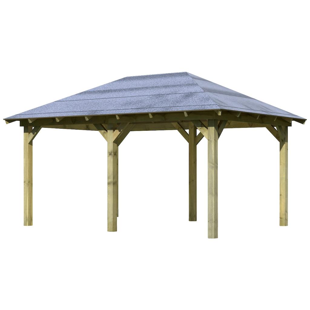 Karibu Holzpavillon »Mailand«, BxT: 345x485 cm