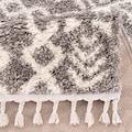 Carpet City Hochflor-Teppich »Pulpy 514«, rechteckig, 30 mm Höhe, mit Fransen, Wohnzimmer