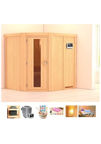 KONIFERA Sauna »Oliv 2«, 196x170x198 cm, 9 kW Bio - Ofen mit ext. Strg., Energiespartür kaufen