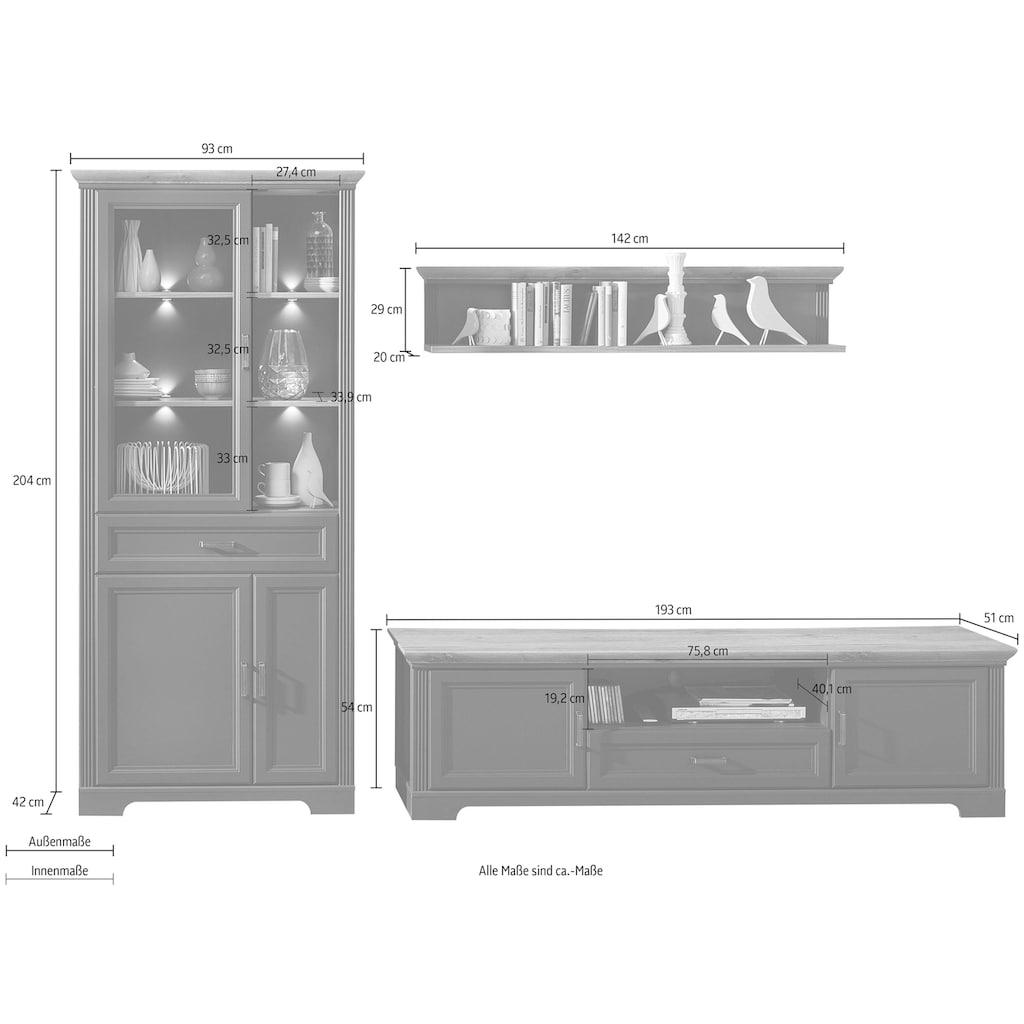 Innostyle Wohnwand »Jasmin«, (Set, 3 St.), inkl. LED-Beleuchtung, mit Soft-Close-Funktion