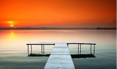 Papermoon Fototapete »Sonnenuntergang am Plattensee«, Vliestapete, hochwertiger... kaufen