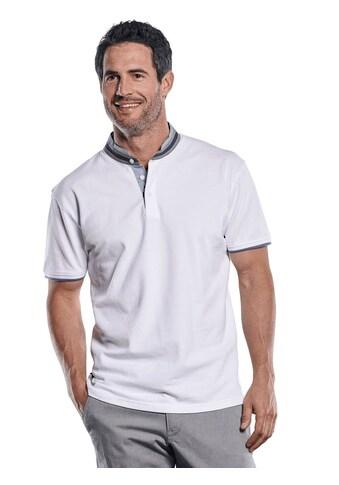 Engbers Serafino T-Shirt mit Stehkragen und Kontrastdetails kaufen