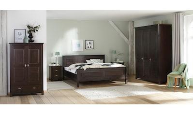 Home Affaire Kleiderschrank »Rauna« Aus Massiver Kiefer Kaufen