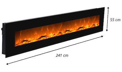 GLOW FIRE Elektrokamin Saturn schwarz kaufen