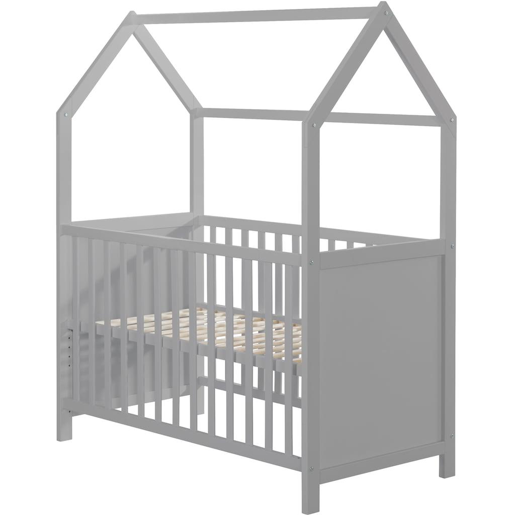 roba® Babybett »Hausbett 60x120, taupe«, FSC®-Holz aus gewissenhaft bewirtschafteten Wäldern