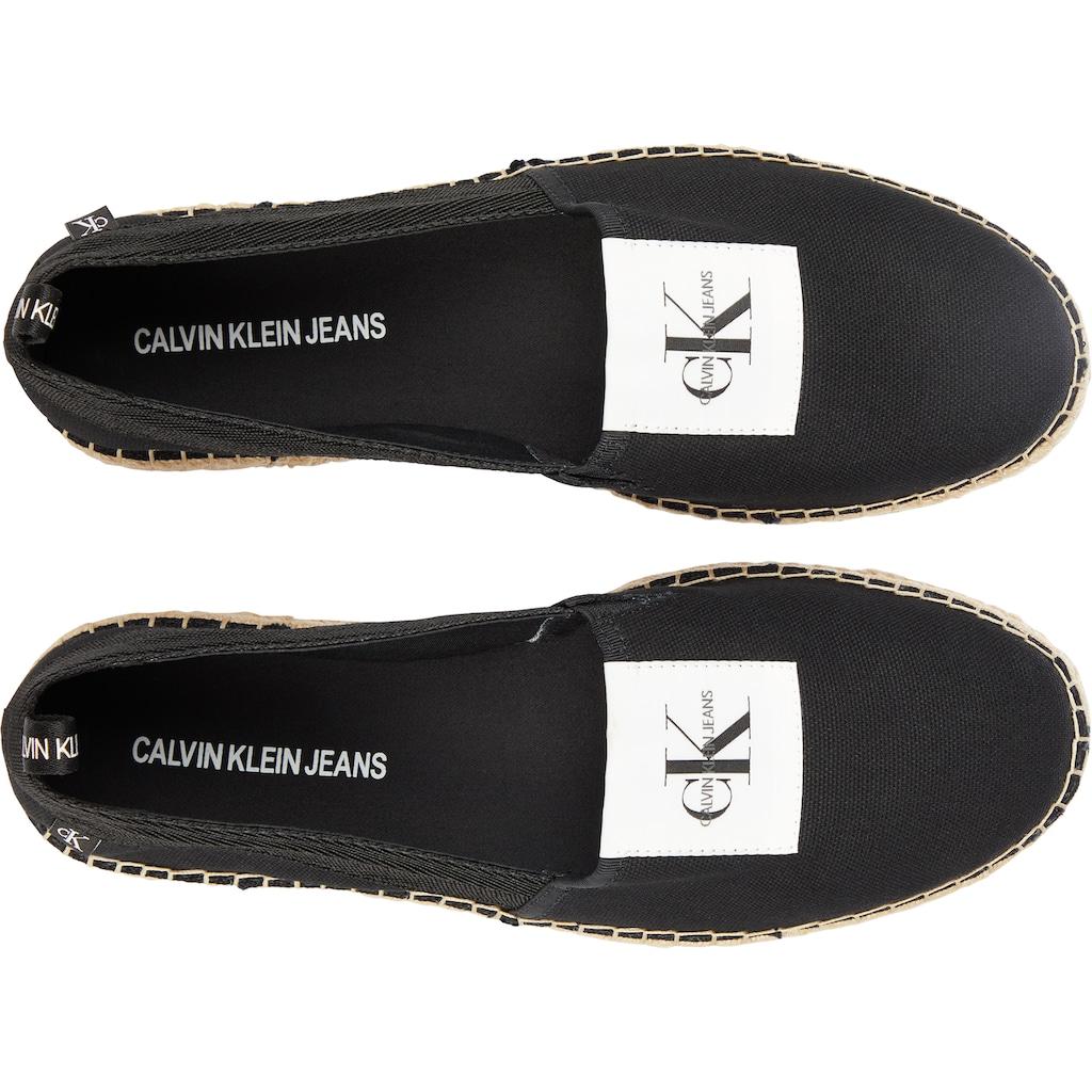 Calvin Klein Espadrille, mit Logo Flag
