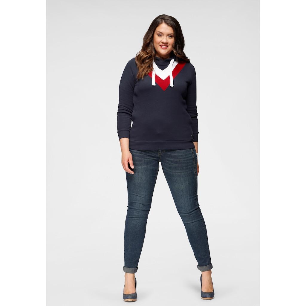 Arizona Skinny-fit-Jeans »mit Keileinsätzen«, Low Waist