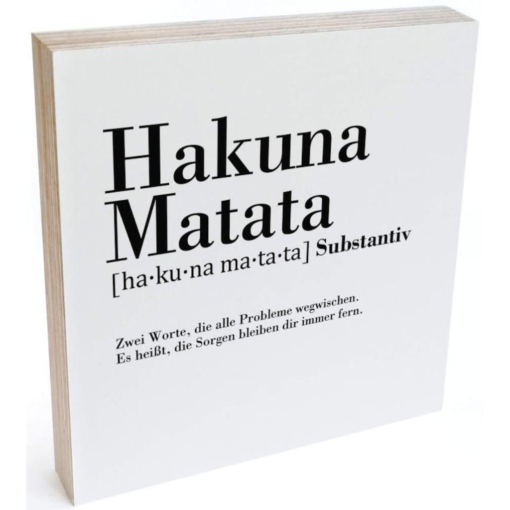 Wall-Art Holzbild »Tischdeko Hakuna Matata«, (1 St.)