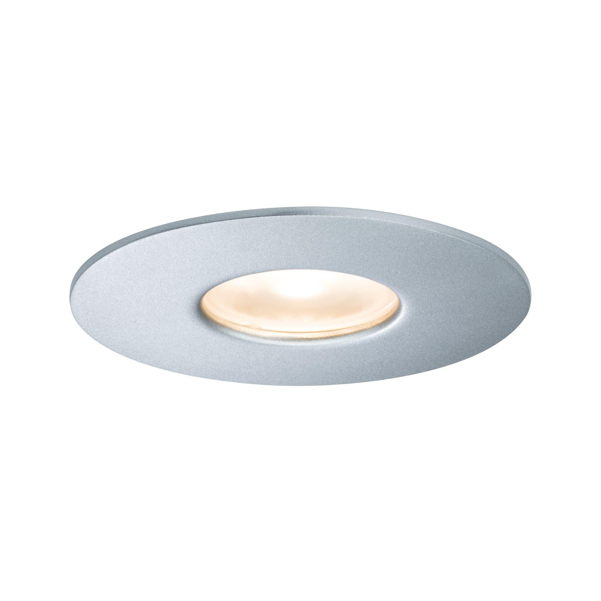 Paulmann LED Einbaustrahler House 34° 5,8W Silber, 1 St., Warmweiß