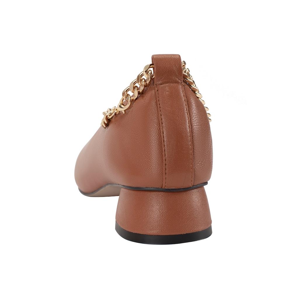 ekonika Pumps, hergestellt aus echtem Leder