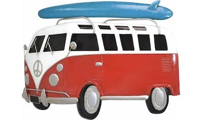 HOFMANN LIVING AND MORE Wanddekoobjekt »VW-Bulli mit Surfbrett«, Wanddeko, aus Metall kaufen