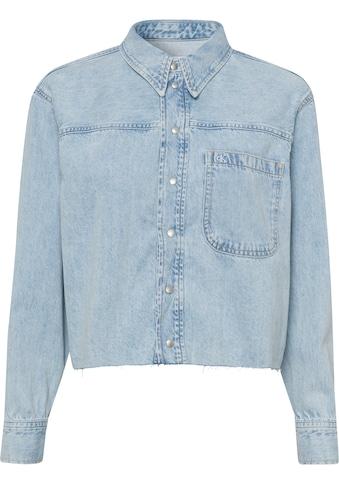 Calvin Klein Jeans Jeansbluse »CROPPED DAD SHIRT«, mit geschnittener Saumkante im... kaufen