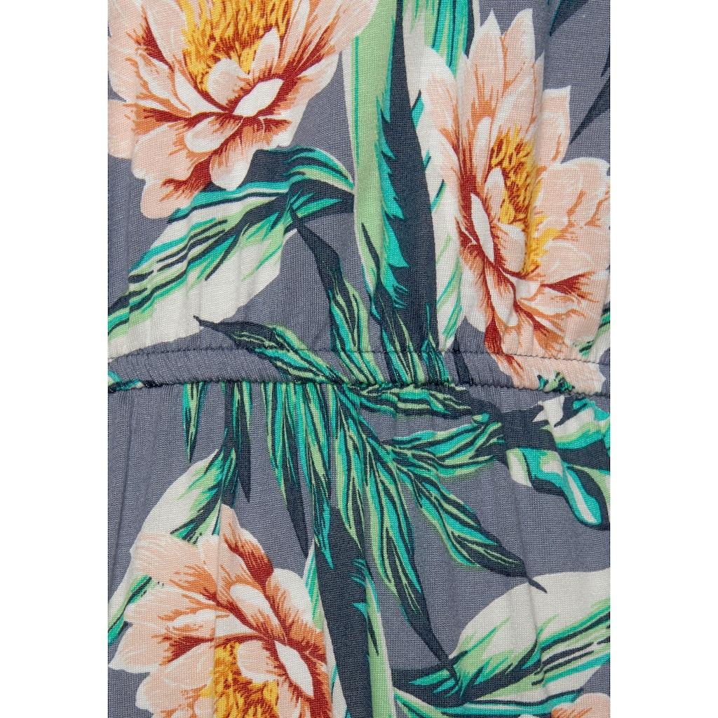 s.Oliver Beachwear Sommerkleid, mit V-Ausschnitt hinten
