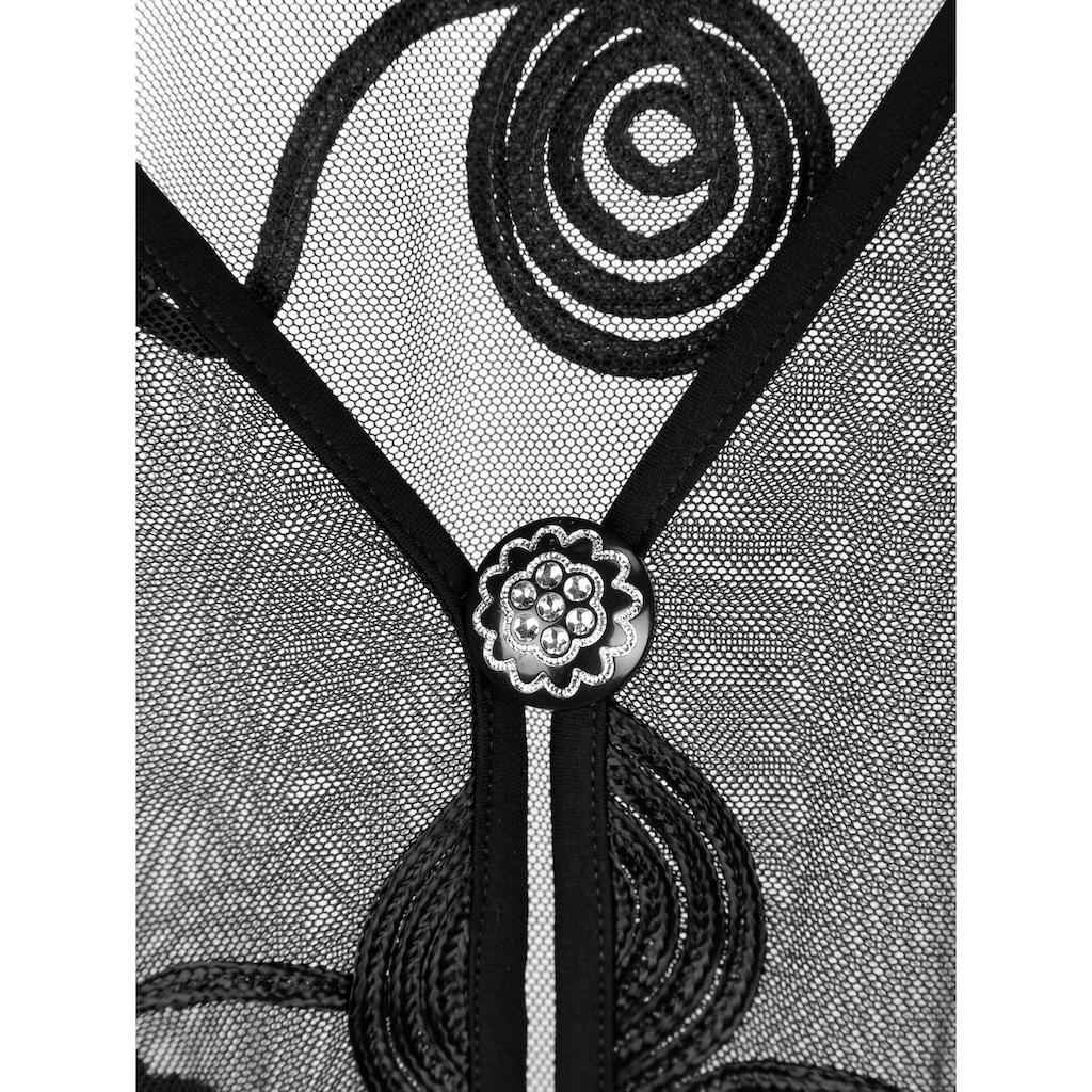 m. collection Blusenjacke, mit hübscher Kordelstickerei