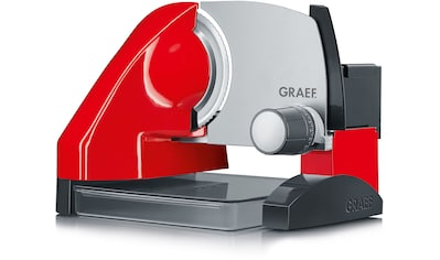 Graef Allesschneider SlicedKitchen S 50003, inkl. Aufbewahrungsbox & MiniSlice - Aufsatz, rot, 170 Watt kaufen