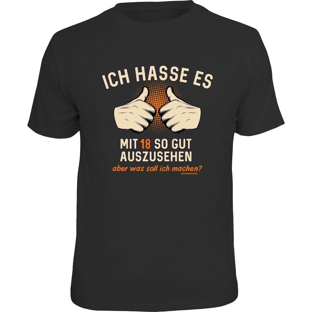 Rahmenlos T-Shirt mit Siebdruck-Print