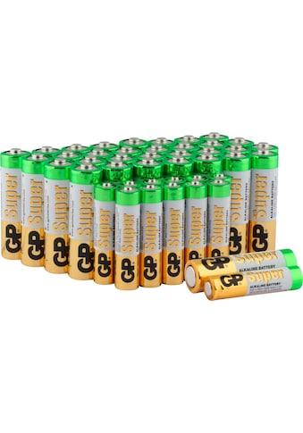 GP Batteries Batterie »Super Alkaline 1,5V AAA + AA Batterie 12 Stück & 32 Stück«, 1,5... kaufen