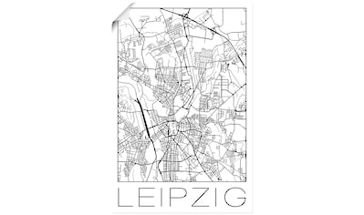 Artland Wandbild »Retro Karte Leipzig Deutschland« kaufen