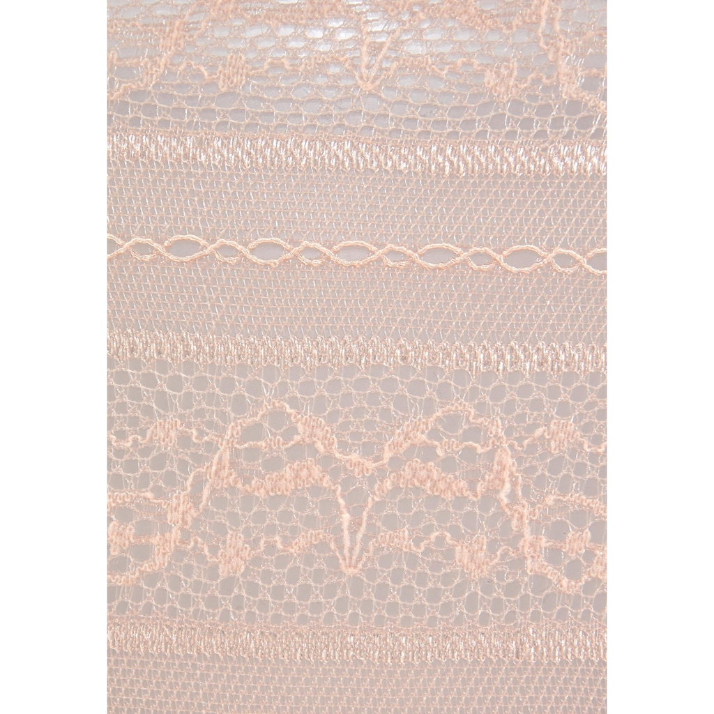 LASCANA Ministring, aus leicht transparenter Spitze mit Bändern