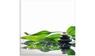 Artland Glasbild »Spa mit Steinen und Bambus«, Zen, (1 St.) kaufen