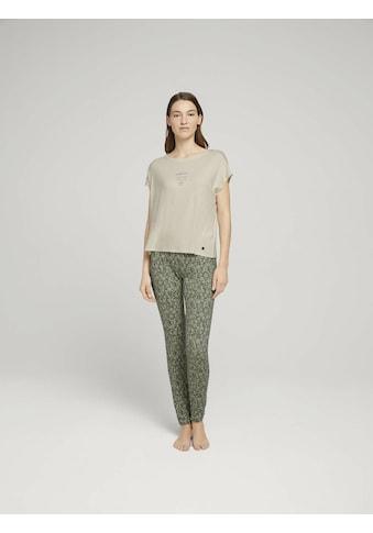 TOM TAILOR T-Shirt »Langes Pyjama-Set« kaufen