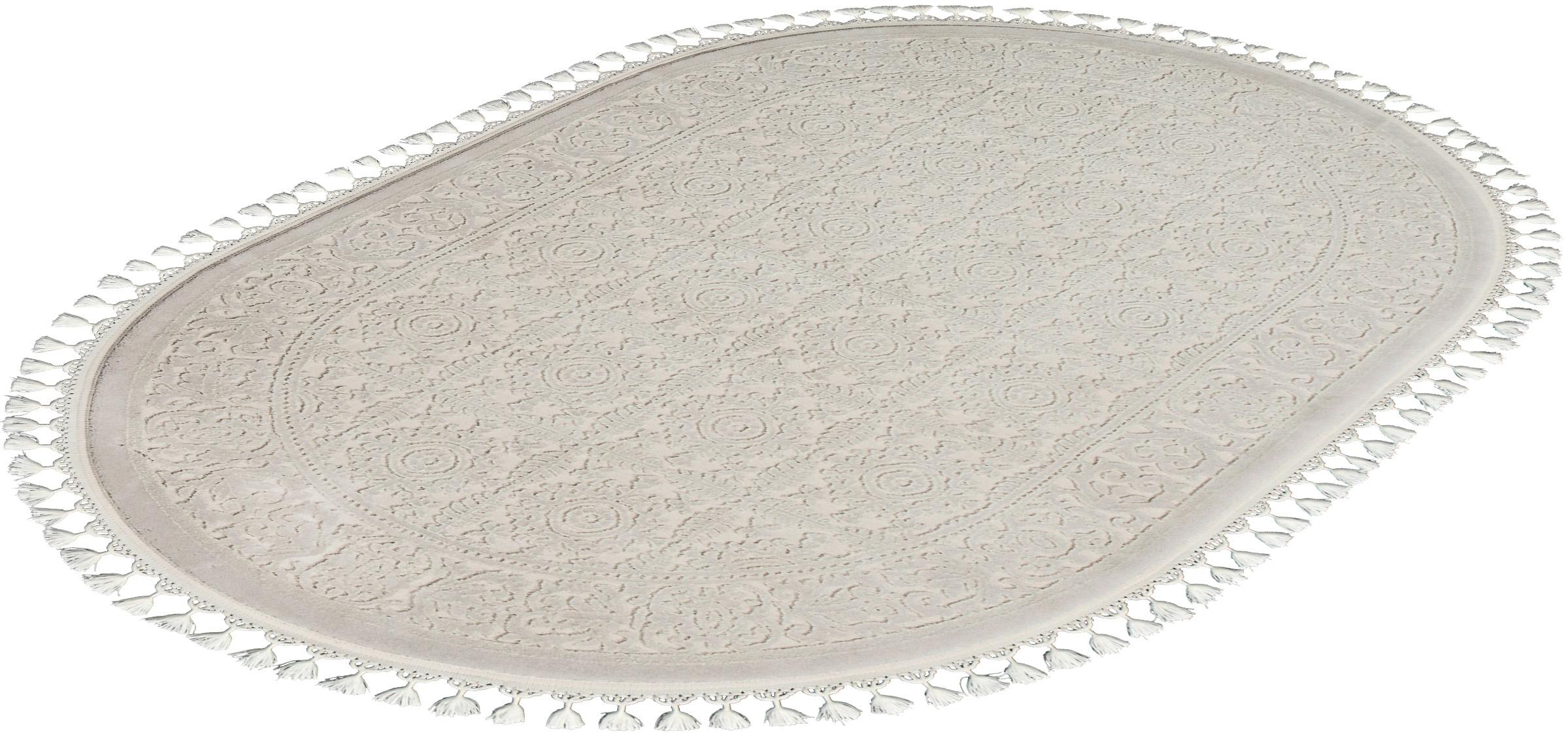 Orientteppich Delüks 6894 Sanat Teppiche oval Höhe 14 mm