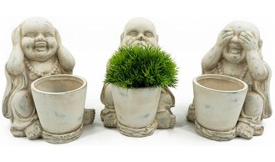 NOOR LIVING Buddhafigur »Buddha, 3-er Set Pflanztöpfe« kaufen