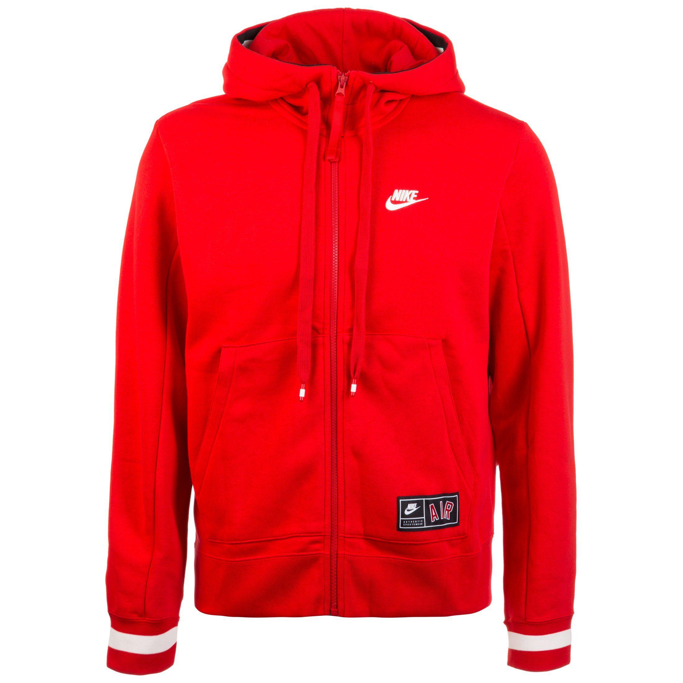 Nike Sportswear Kapuzensweatjacke Air Fleece | Sportbekleidung > Sportjacken > Sonstige Sportjacken | Rot | Fleece | Nike Sportswear