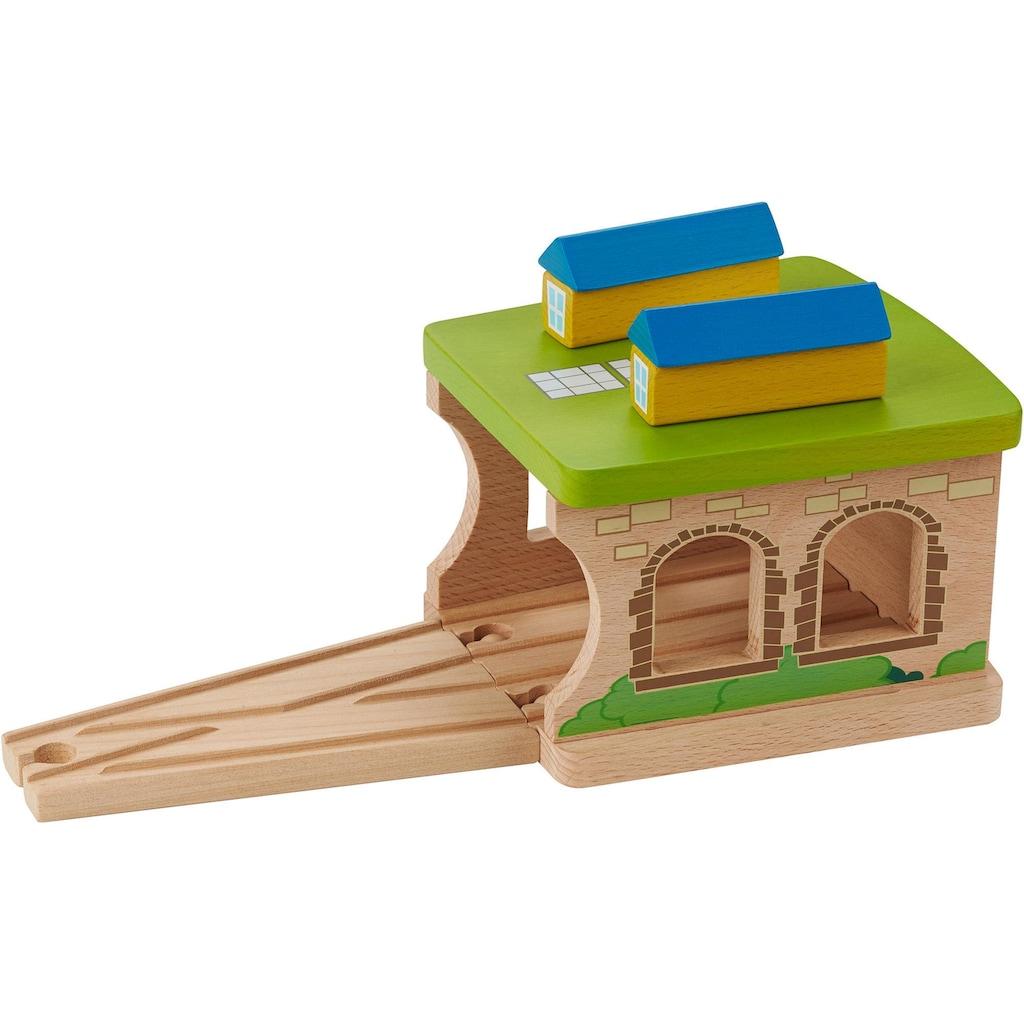 EverEarth® Spielzeugeisenbahn-Gebäude »Eisenbahnschuppen«, FSC®-Holz aus gewissenhaft bewirtschafteten Wäldern