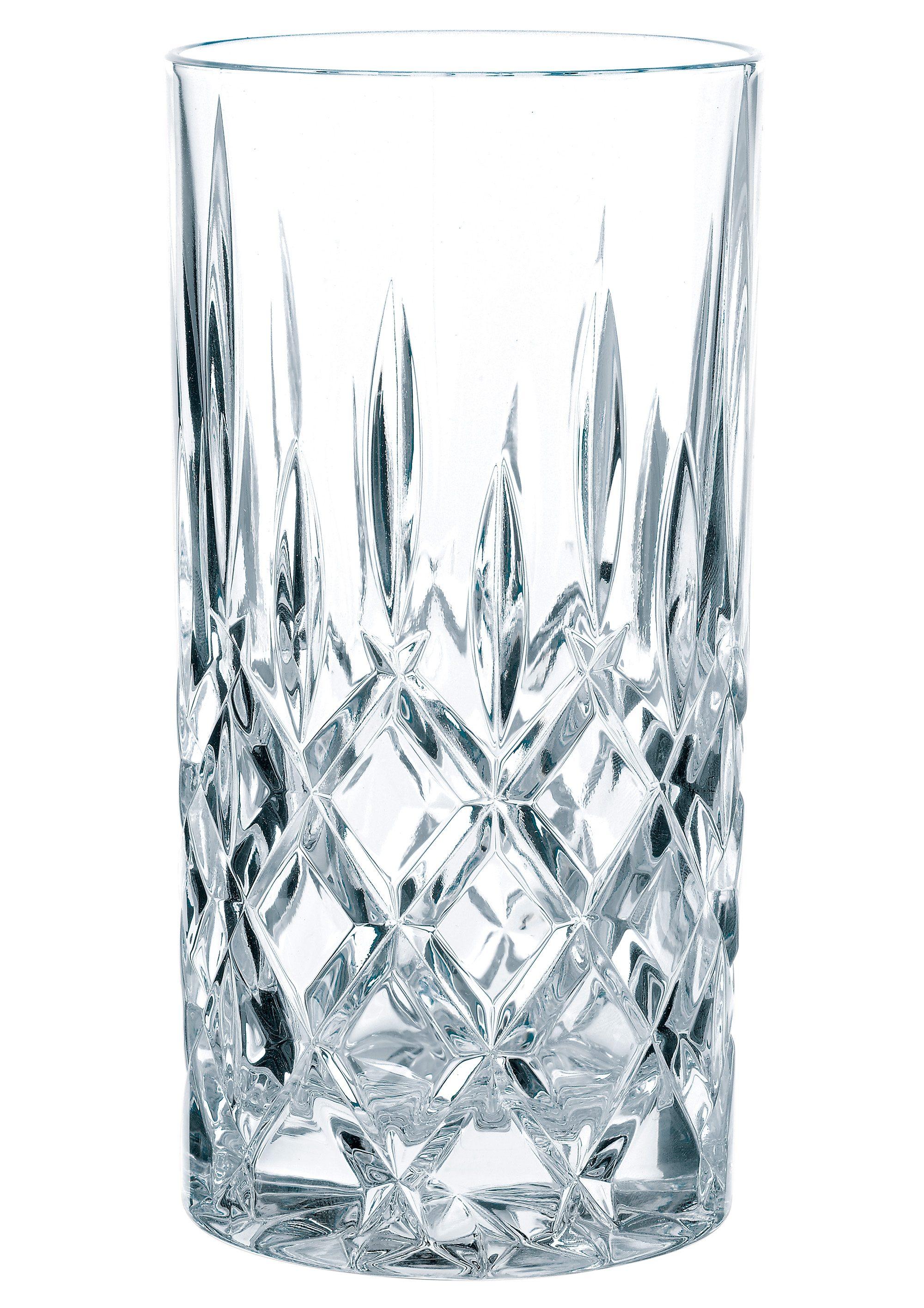 Nachtmann Longdrinkglas Noblesse, (Set, 4 tlg.), Kristallglas mit edlem Schliff farblos Kristallgläser Gläser Glaswaren Haushaltswaren