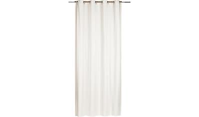ELBERSDRUCKE Gardine »Miami«, Ösenschal Miami 00 weiß 255x140 cm blickdicht kaufen