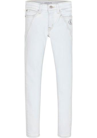 Calvin Klein Jeans Stretch-Jeans »SKINNY MR SUPER LT BL CLEAN«, mit Ziernähten kaufen