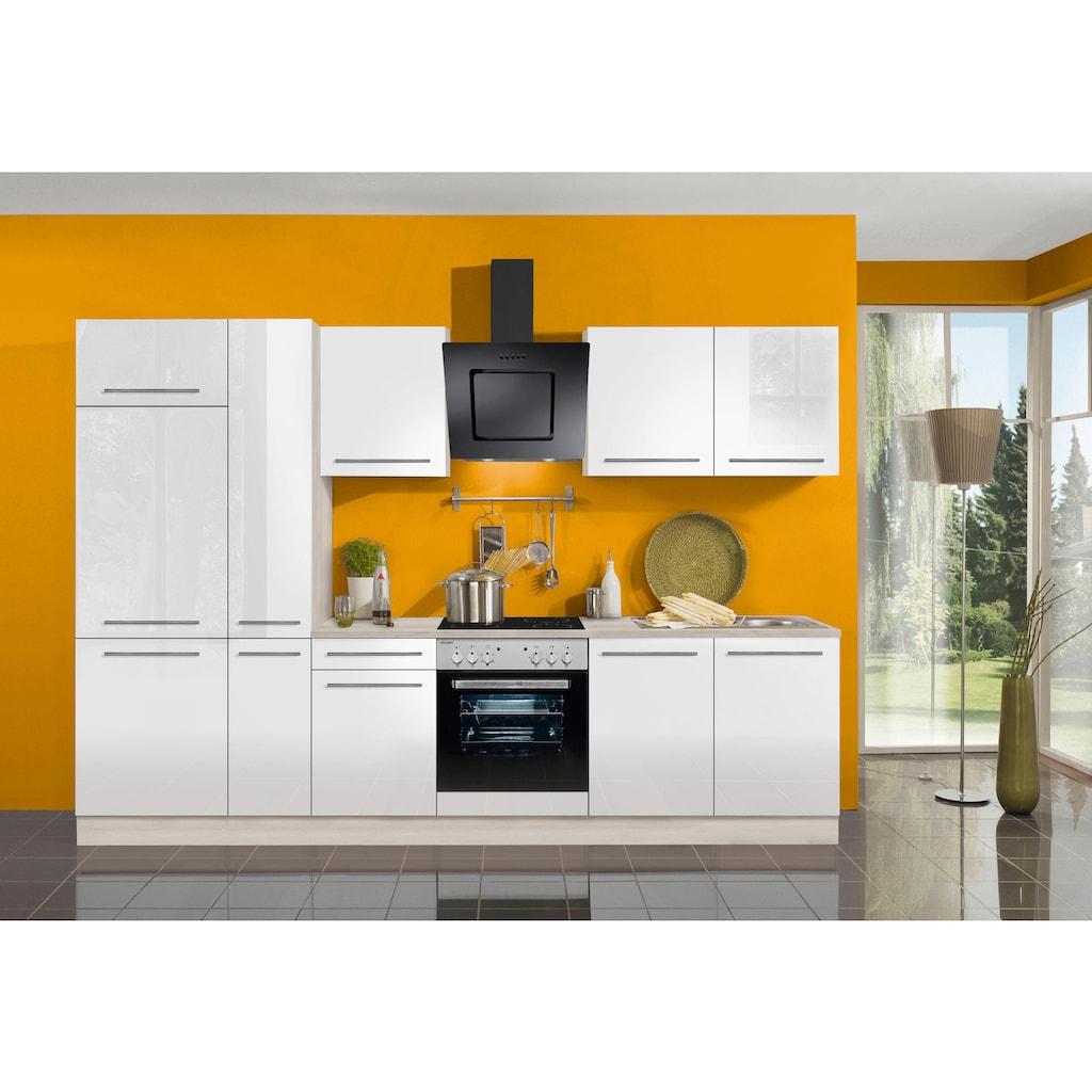 OPTIFIT Küchenzeile »Bern«, ohne E-Geräte, Breite 300 cm, mit höhenverstellbaren Füßen, gedämpfte Türen und Schubkästen, Metallgriffe