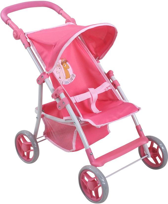 Knorrtoys Puppenbuggy Nici La-La-Lama Lounge - Liba rosa Kinder Puppenzubehör Puppen Puppenwagen