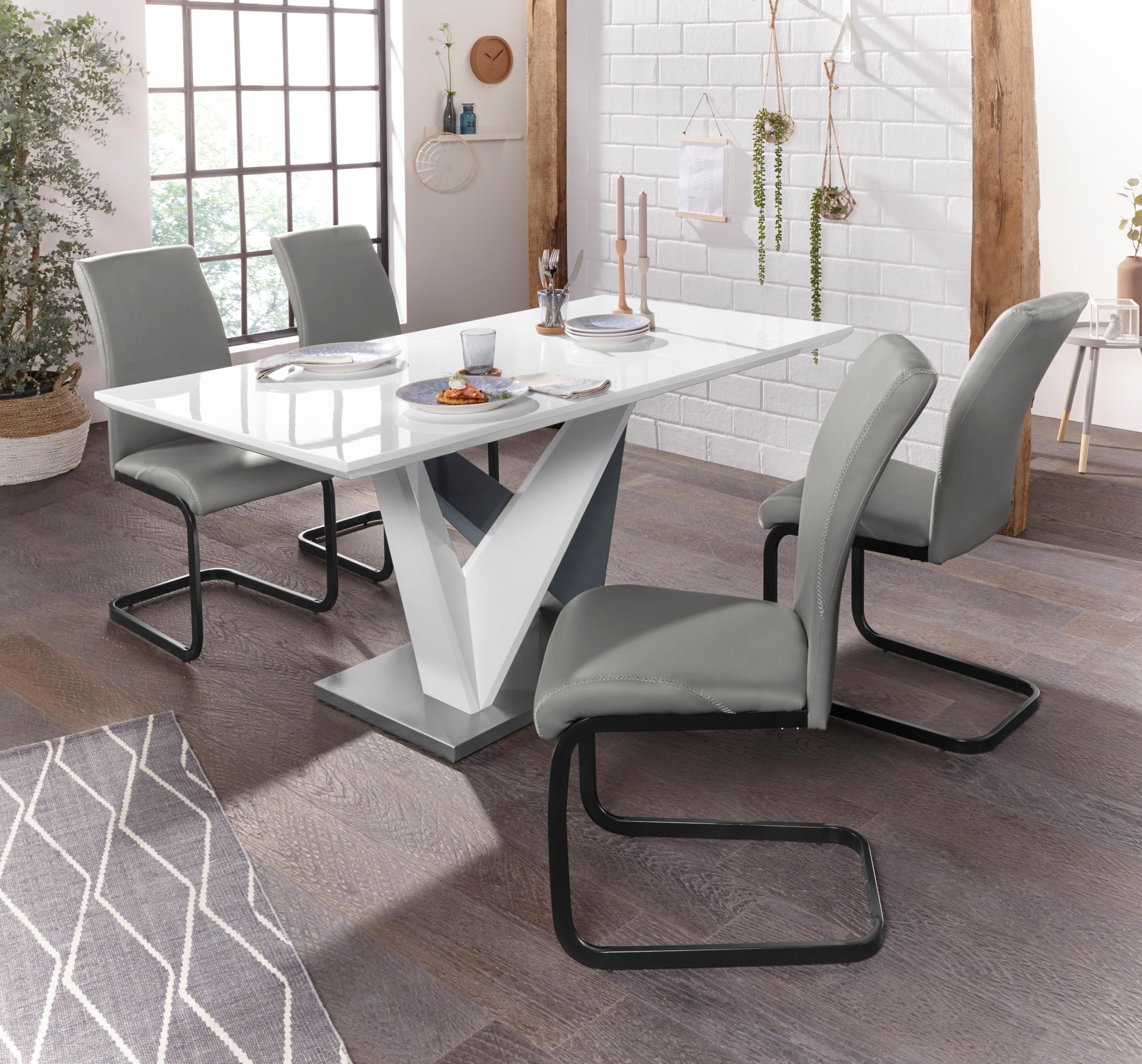 Essgruppe Harry - Hermine mit Esstisch und 4 Stühlen
