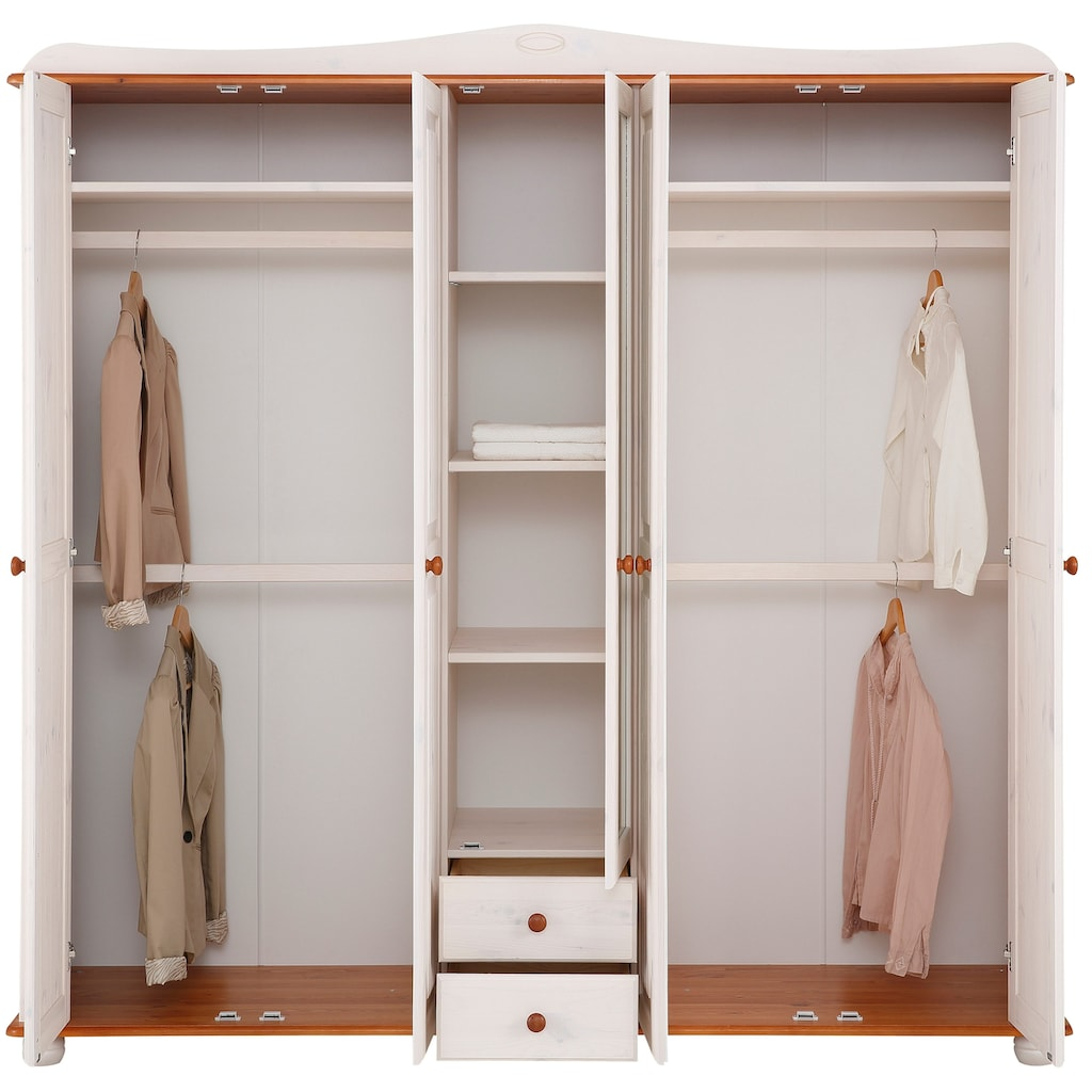 Home affaire Kleiderschrank »Adele«, aus massiver Kiefer