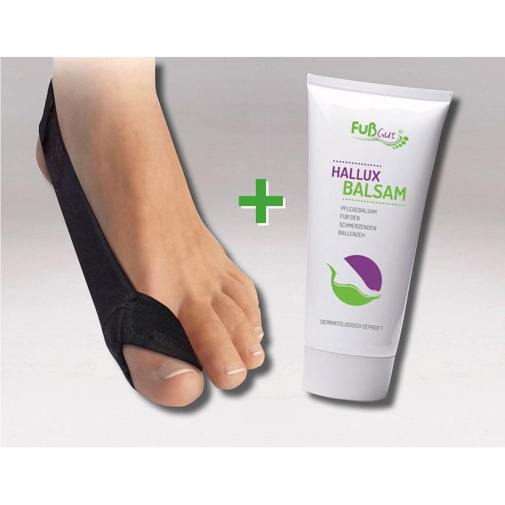 Fußgut Hallux-Bandage »Korrektur Schlaufe & Hallux Balsam«, links
