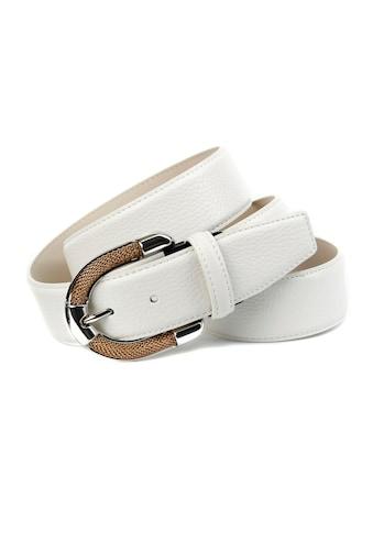 Anthoni Crown Ledergürtel, mit aufwendiger Schmuckschließe kaufen