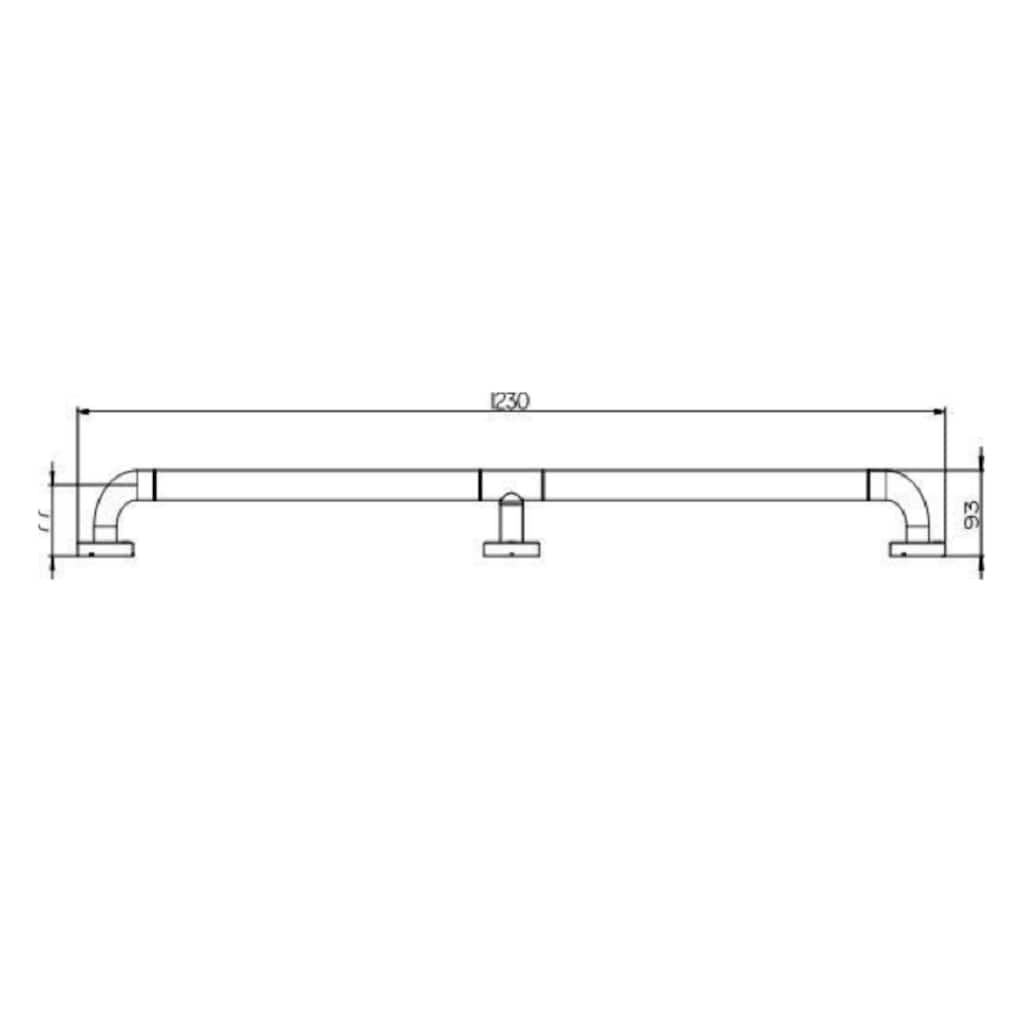 Provex Haltegriff »Serie 300 Steel«, belastbar bis 130 kg, Edelstahl