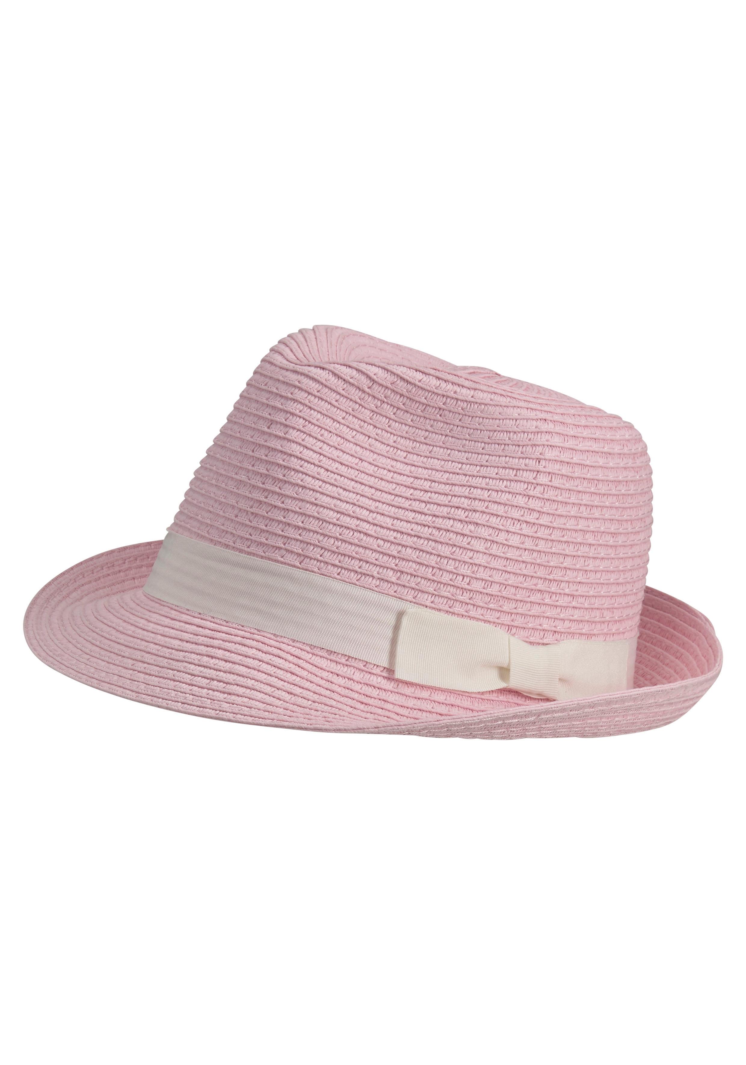 J.Jayz Strohhut rosa Damen Strohhüte Hüte Accessoires