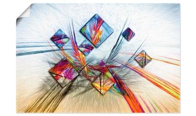 Artland Wandbild »Digitale abstrakte Malerei«, Muster, (1 St.), in vielen Größen & Produktarten - Alubild / Outdoorbild für den Außenbereich, Leinwandbild, Poster, Wandaufkleber / Wandtattoo auch für Badezimmer geeignet kaufen