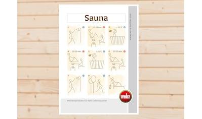 weka Tafelfolie »Sauna-Baderegeln« kaufen