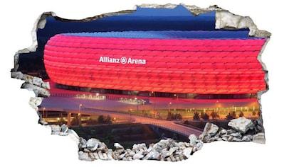 Wall-Art Wandtattoo »3D Fußball FCB Allianz Arena« kaufen