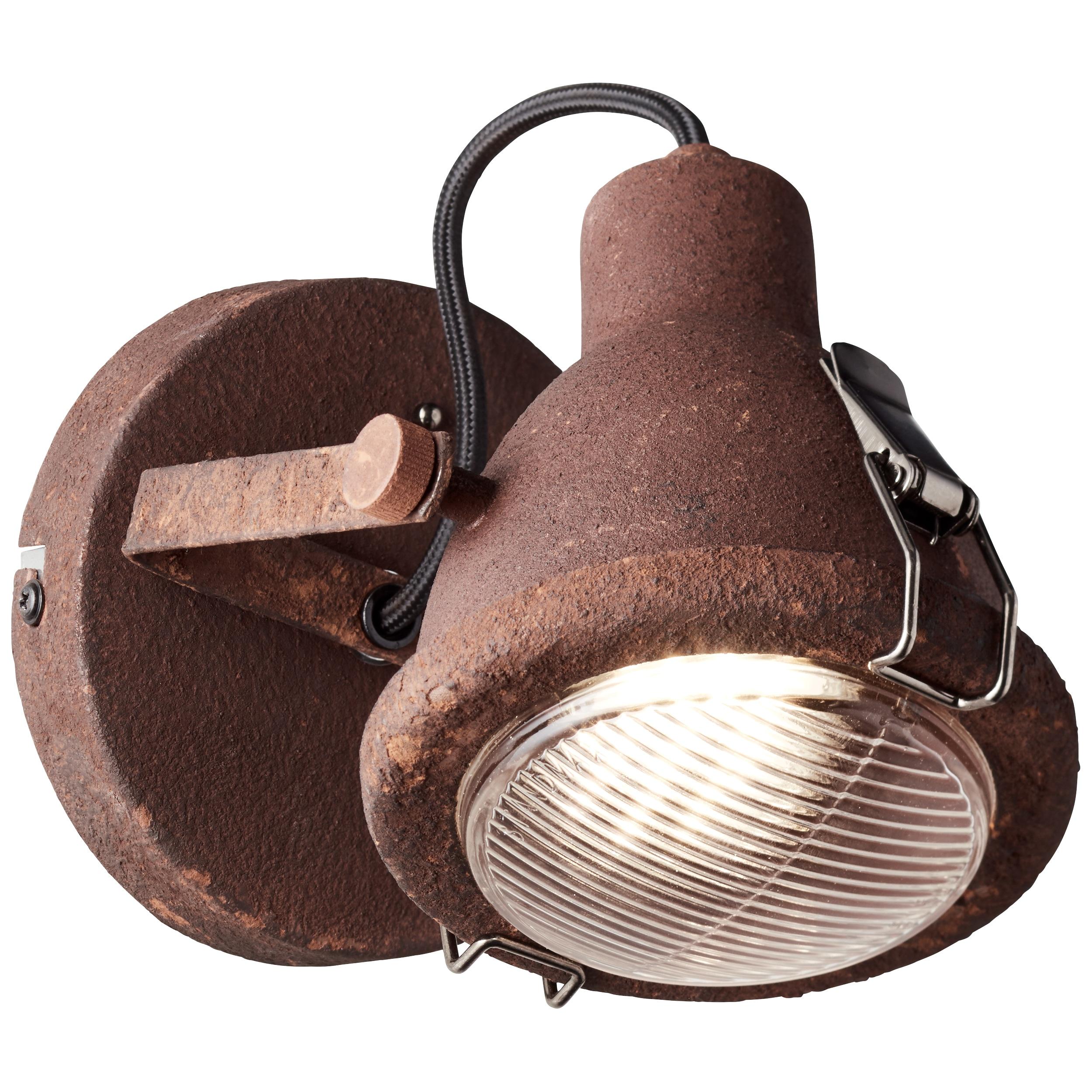 Brilliant Leuchten LED Wandleuchte, GU10, Bentli Wandspot rostfarbend