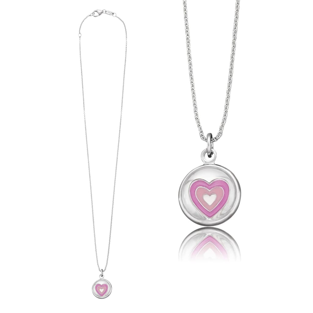 Herzengel Kette mit Anhänger »Herz als Symbol für Liebe, HEN-GLAS-02LOVE«, mit Glaslinse und Emaille
