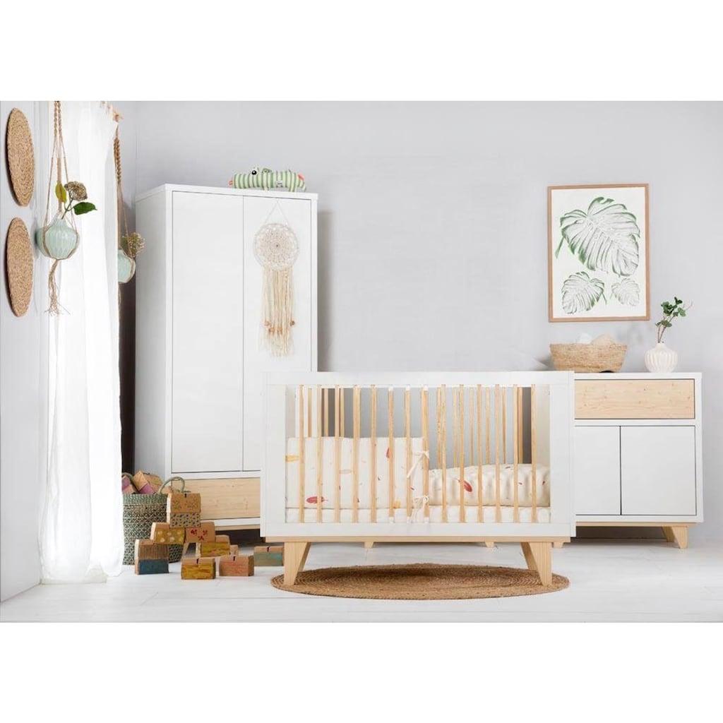 Ticaa Babyzimmer-Komplettset »Lydia«, Bett + Wickelkommode + Schrank