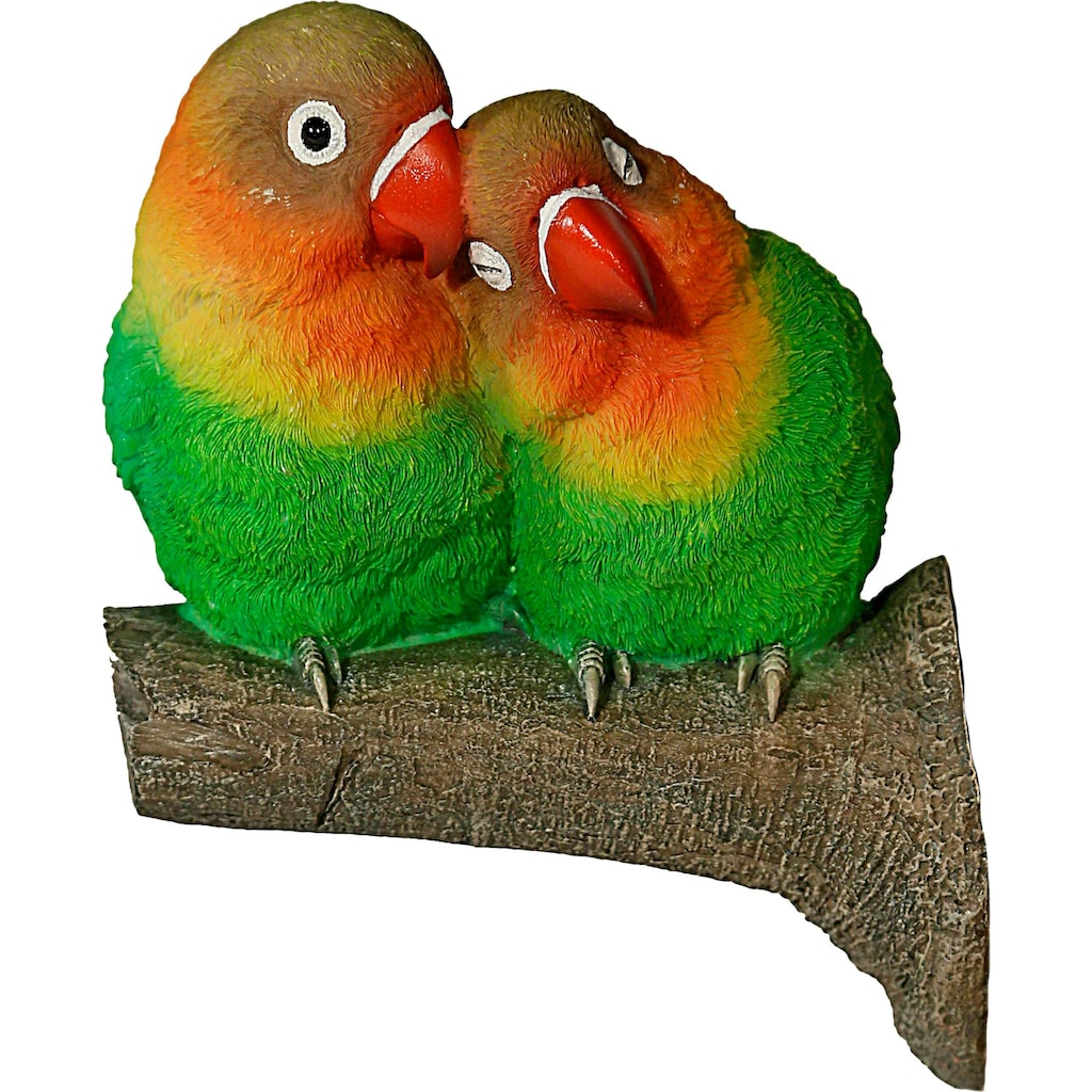 Casa Collection by Jänig Tierfigur, Tierfigur Papageienpärchen auf Ast (Baumbefestigung)